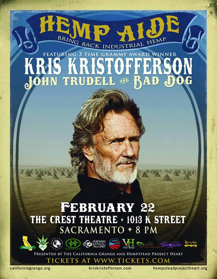 Hemp Aide Concert Kris Kristofferson